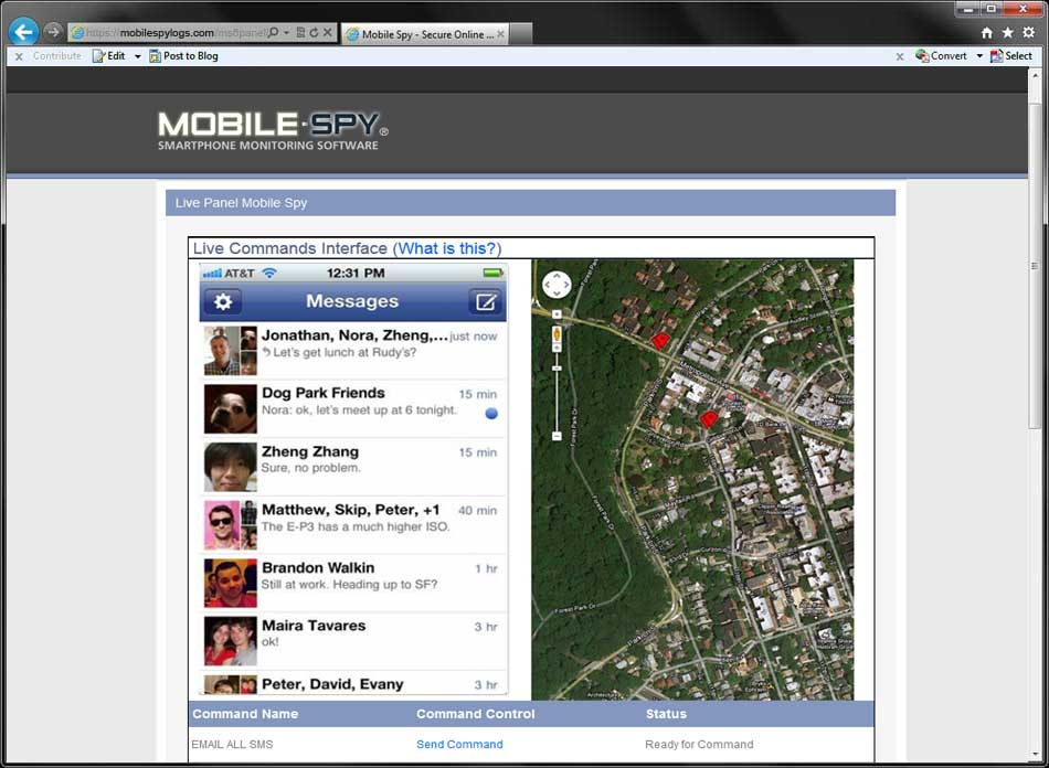 mobile spy login panel ios